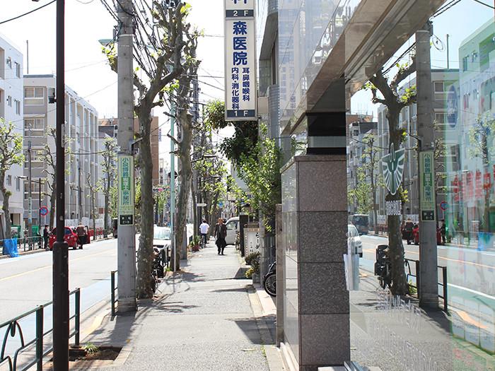 東日本銀行を通過し直進すると当院の看板が見えてきます。